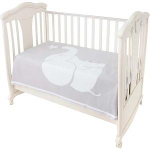Одеяло детское байковое Ермолино х/б 140*100 ПРЕМИУМ св.серый слоник 57-8ЕТ