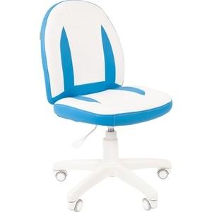 Кресло Chairman Kids 122 экопремиум белый/голубой