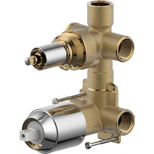 Скрытая часть встраиваемого смесителя (2-функц) Bravat (D982CP-A-ENG)