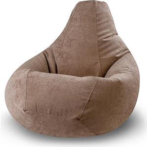 Кресло-мешок POOFF Коричневое микровельвет XXL
