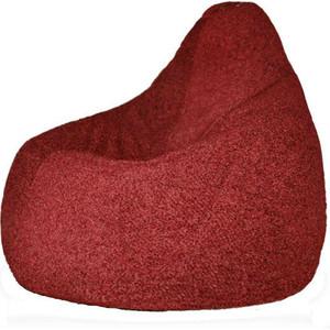 Кресло-мешок POOFF Груша велюр бордовый XL