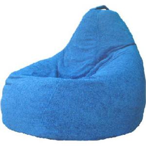 Кресло-мешок POOFF Груша велюр голубой XXL фото