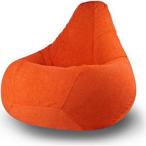 Кресло-мешок POOFF Груша велюр оранжевый XL