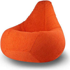 Кресло-мешок POOFF Груша велюр оранжевый XXL фото