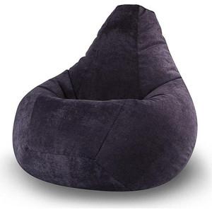 Кресло-мешок POOFF Черное микровельвет XXL