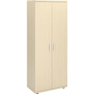 Шкаф для одежды двухдверный Виско Консул дуб шамони светлый с выдвижной штангой