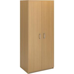 Шкаф для одежды двухдверный Виско Стиль бук с горизонтальной штангой