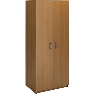 Шкаф для одежды двухдверный Виско Стиль орех с горизонтальной штангой шкаф для одежды сокол шо 1 испанский орех