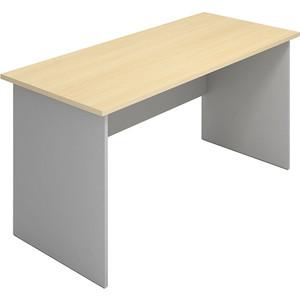 Стол письменный Виско Импакт береза серый прямоугольный 140x70x75