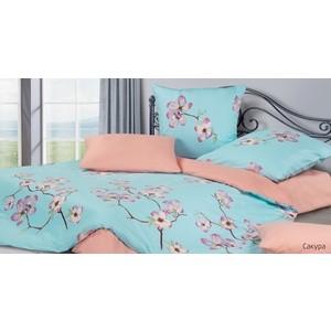 Комплект постельного белья Ecotex 1,5 сп, сатин, Гармоника Сакура (4650074957982)