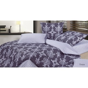 Комплект постельного белья Ecotex Семейный, сатин, Гармоника Плаза (4660054343438)