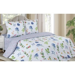Комплект постельного белья Ecotex Евро с резинкой, поплин, Поэтика Джесика (4660054340611)
