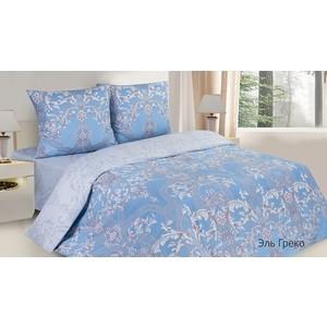Комплект постельного белья Ecotex Евро с резинкой, поплин, Поэтика Эль Греко (4650074956220)