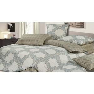 Комплект постельного белья Ecotex Евро, сатин, Гармоника Квилл (4680017866651)