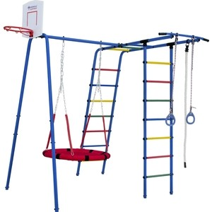 Детский спортивный комплекс Формула здоровья Street 1 синий радуга цена