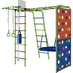 Детский спортивный комплекс Формула здоровья Street 2 салатовый радуга