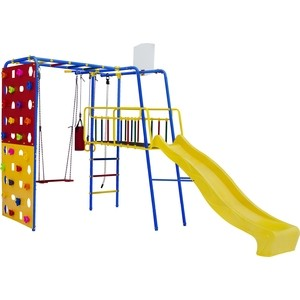 Детский спортивный комплекс Формула здоровья Street 3 Smile синий радуга