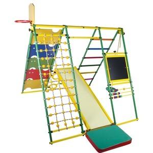 Детский спортивный комплекс Формула здоровья Вершинка 2.0 W Плюс зелёный/радуга детский спортивный комплекс формула здоровья уралец 1а плюс универсальный синий радуга