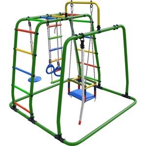 Детский спортивный комплекс Формула здоровья Игрунок Т Плюс зелёный/радуга