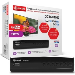 Тюнер DVB-T2 D-Color DC1601HD цена