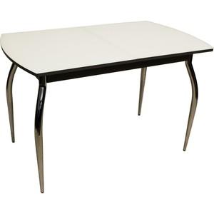 Стол раздвижной Leset Дижон 2Р хром/серый, стекло белое
