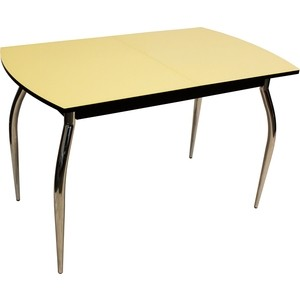 Стол раздвижной Leset Дижон 2Р хром/венге, стекло крем