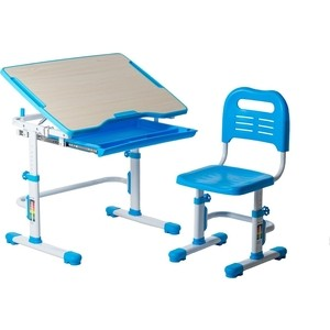 Комплект парта + стул трансформеры FunDesk Vivo blue