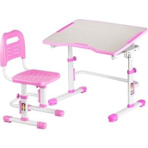 Комплект парта + стул трансформеры FunDesk Vivo II pink