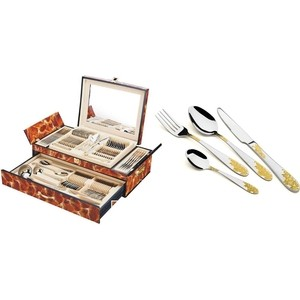 Набор столовых приборов 72 предметов Haus Moller (HM-304/brown)