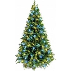 Елка искусственная CRYSTAL TREES Этна с вплетенной гирляндой 210 см.