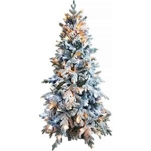 Елка искусственная CRYSTAL TREES Неаполь заснеженная с вплетенной гирляндой 150см.
