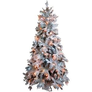 Елка искусственная CRYSTAL TREES Габи заснеженная с вплетенной гирляндой 210 см.