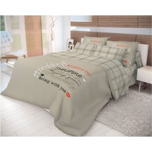 Комплект постельного белья Волшебная ночь евро, ранфорс, Happiness (712448)