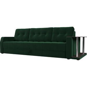 Диван-еврокнижка АртМебель Атлант велюр зеленый стол с правой стороны