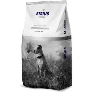 Сухой корм SIRIUS Platinum Hypoallergenic утка с овощами для взрослых собак 12кг