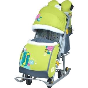 Санки коляски Nika детям 7-6 (С Жирафом Лимонный)