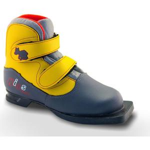 Ботинки лыжные Marax 75мм KIDS серо-желтый р.37