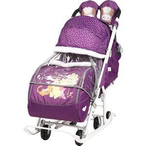 Санки коляски Nika Disney Baby 2 (С Винни Пухом Баклажановый)