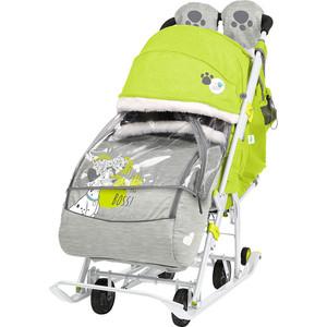 Санки коляски Nika Disney Baby 2 (С Далматинцами Лимонный)