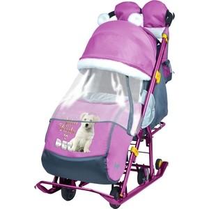 Санки коляски Ника детям 7-2 (Dog Орхидея)