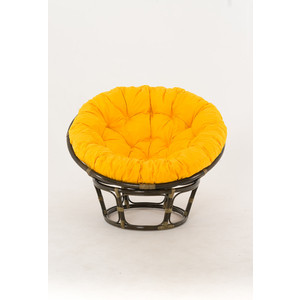 Кресло Vinotti Papasan 23/01 олива желтая подушка