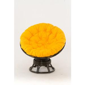 Кресло-качалка Vinotti PAPASAN 23/01В олива желтая подушка