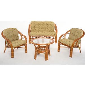 Комплект для отдыха Vinotti 01/90 коньяк желтые подушки
