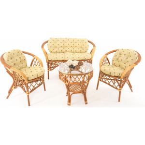 Комплект для отдыха Vinotti 01/92 коньяк желтые подушки
