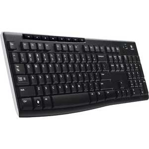Клавиатура Logitech Wireless Keyboard K270 Black USB (920-003757) 2 4g wireless roll up flexible computer silicone keyboard blue