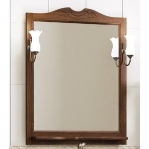 Зеркало с полкой Opadiris Клио 70 светильниками, нагал P46 (Z0000001384 + 00000001041)