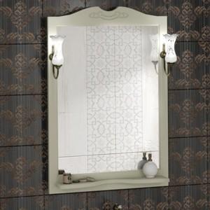 Зеркало с полкой Opadiris Клио 70 подсветкой, слоновая кость 1013 (00-00000216 + 00000001041)