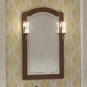 Зеркало Opadiris Лоренцо 60 с светильниками, светлый орех Р10 (Z0000011063 + 00000001041) фото
