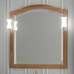 Зеркало Opadiris Лоренцо 100 с светильниками, светлый орех Р10 (Z0000007094 + 00000001041)