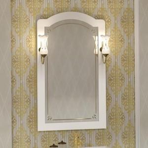 Зеркало Opadiris Лоренцо 60 с светильниками, белый матовый 9003 (Z0000011065 + 00000001041)